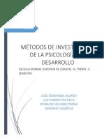 Métodos de La Psicología Evolutiva