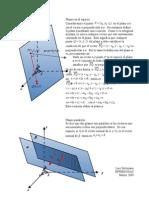 Ecuación de un Plano en el espacio