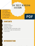 voice to text mailing system synopsis