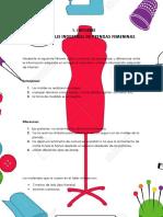 Informe Patronaje Industrial Femenino.