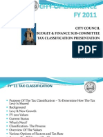 Tax Classification Process - City of Lawrence - 2011