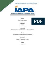 Evaluación de Los Aprendizajes en La Educación Básica.