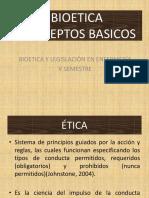 BIOETICA CONCEPTOS BASICOS
