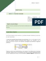 3.1 Microsoft Excel - Funciones Avanzadas