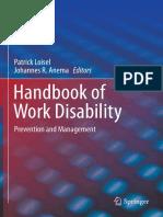 Loisel - 2013 - Handbook of Work Disability