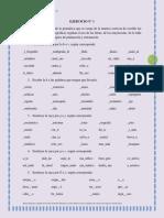 Ejercicios de lenguaje y comunicación