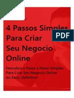 4 Passos Simples Para Criar Seu Negocio Online