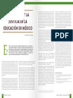 LA igualda y la justicia en la educación de Méxcio.Educar Orientar n8 39