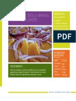 Ensalada de Cebolla,Naranja, Pasas y Queso Magro