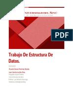 Trabajpo de Estructura de Datos