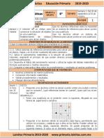 Octubre - 6to Grado Matemáticas (2019-2020)