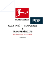 GUIA PRÉ TEMPORADA - Bundesliga 19-20 - Canal Do Frazão