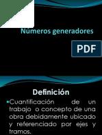 Números Generadores