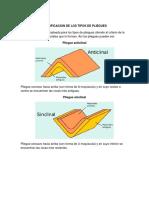 Clasificacion de Los Tipos de Pliegues