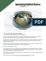 5G Telecommunications Science