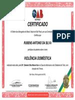 Certificado OAB/SP Palestra Violência Doméstica