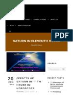 Saturn 11th