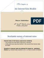 CT1 Chp 15 Stochastic Interest Rate Models
