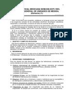 Norma de Sistema General de Unidades de Medida (Magnitudes Físicas y Prefijos)