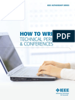 How to Write for Technical Periodicals and Conferences