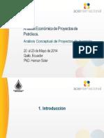 Analisis Conceptual de Proyectos de Inversión