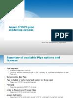AspenTech HYSYS Pipe Models