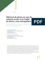 Diferencia de género en casos de violencia escolar en la Ciudad de México y área metropolitana