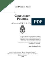 PERON Juan Domingo Conduccion Politica Cap VII a X