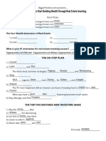 How a Newbie Can Start Building Wealth Through Real Estate Worksheet