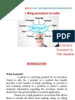 Patent Filling Procedures in India