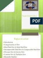 1 Fluid Kinematics