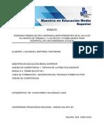 DIVERSAS FORMAS DE EXCLUSIÓN/INCLUSIÓN PRESENTES EN EL AULA EN SU CENTRO DE TRABAJO, Y LOS RETOS Y POSIBILIDADES PARA DESARROLLAR UNA ENSEÑANZA SITUADA