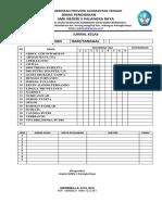 Contoh Form Jurnal Kelas SMK 5 Palangka Raya