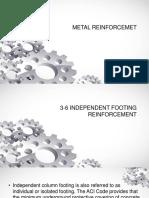 3-6 Independent Footing Reinforcement