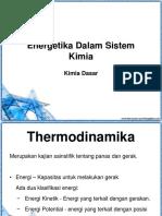 Energetika Dalam Sistem Kimia