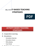 Activity Based Teaching Strategies