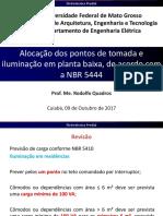 3-Alocação Dos Pontos de Tomadas e Iluminação Em Planta Baixa de Acordo Com a NBR 5444