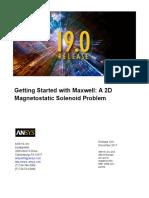 Maxwell 2D Magnetostatic Solenoid Problem
