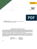 Fluke 787 User Manual
