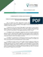 Communiqué du conseil exécutif de Corse