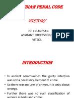 IPC history