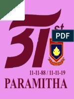 Logo 31 Tahun Paramitha