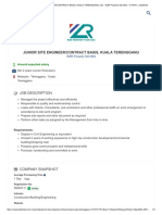 Junior Site Engineer_contract Basis, Kuala Terengganu Job - Wzr Property Sdn Bhd - 4119741 _ Jobstreet