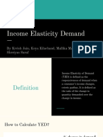 Income Elasticity Demand