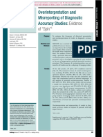 Ochodo Overinterpretation and Misreporting of Diagnostic Accuracy Studies7