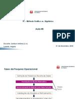API Aula 8 Intro Pesquisa Oper. Prog. Linear M t. Grafico vs. Alg Brico