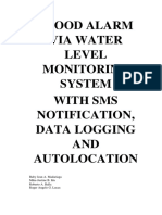 Final - Flood Alarm via Water Level Monitoring System With Sms Notification, Data Logging and Autolocation