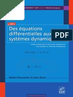 Des équations différentielles aux systèmes dynamiques _ Tome 1, Théorie élémentaire des équations différentielles avec éléments de topologie différentielle.pdf