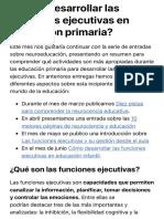 ¿Cómo desarrollar las funciones ejecutivas en educación primaria? - EDUforics