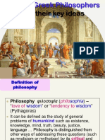 Ancient Greek Philosophers and Their Main Ideas